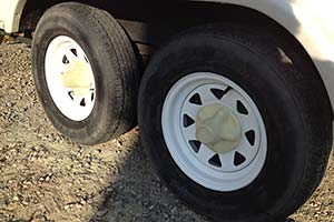 tires after rim painting