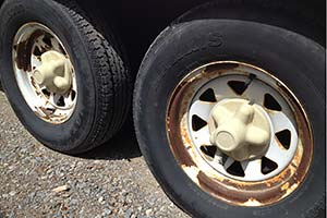 tires with rusty rims